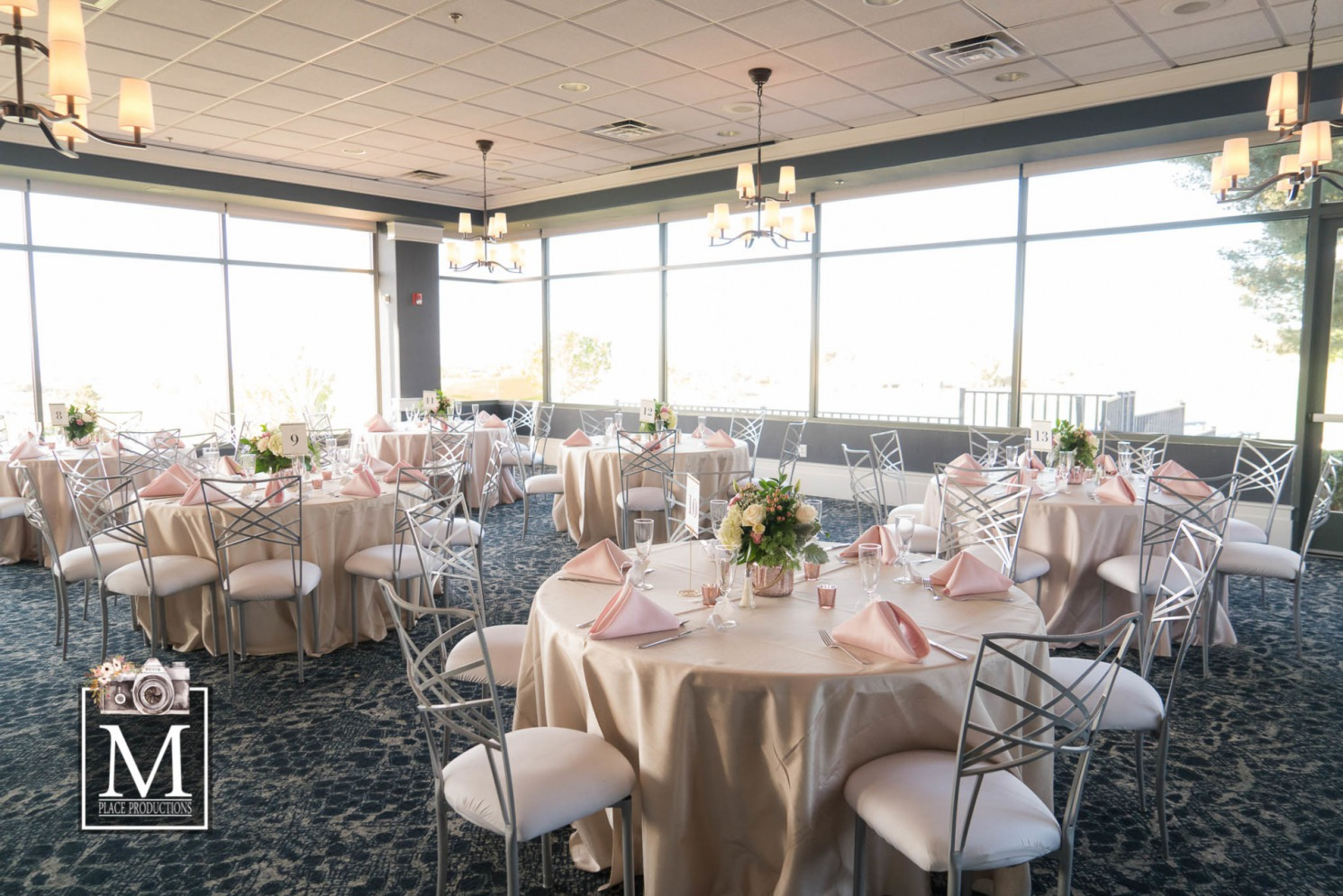 Real Las Vegas Wedding captured by M Place Productions on the sprawling grounds of Thew Revere Golf Club.