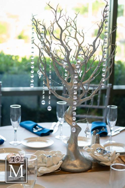 Royal blue fairytale wedding