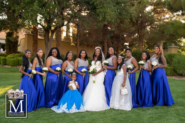 Fairytale royal blue wedding at Siena Golf Club