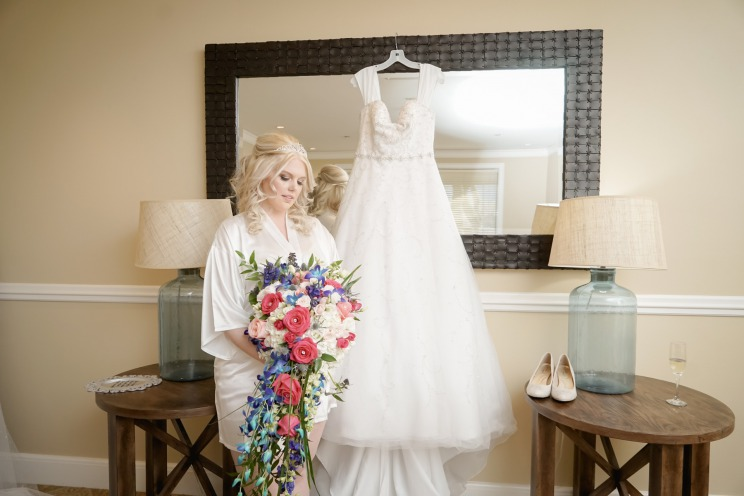 Bride with dress at her Fairytale wedding