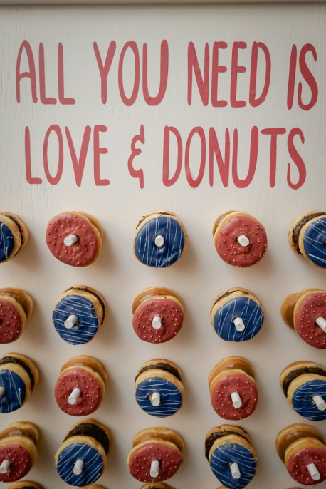 Pink and Blue donut wall