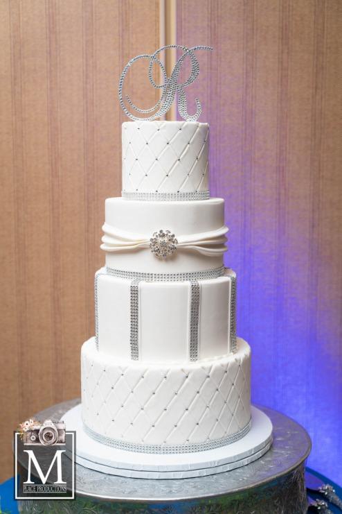 White tiered cake by Las Vegas Custom Cake