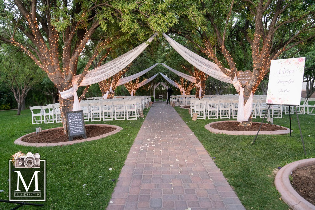 A beautiful garden ceremony at the Grove