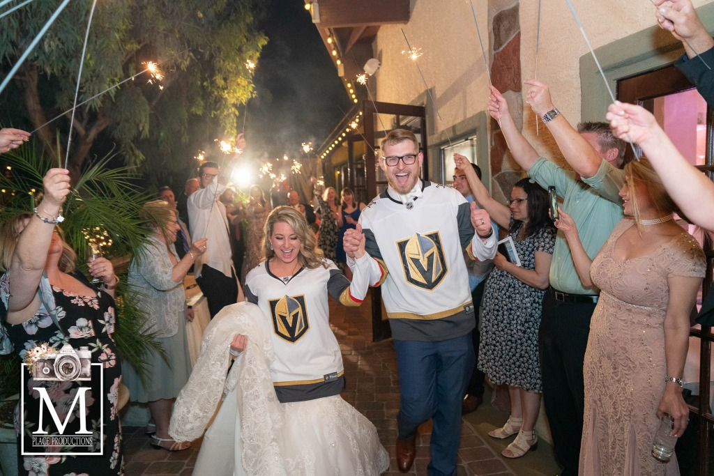 Golden Knights themed wedding at the Grove