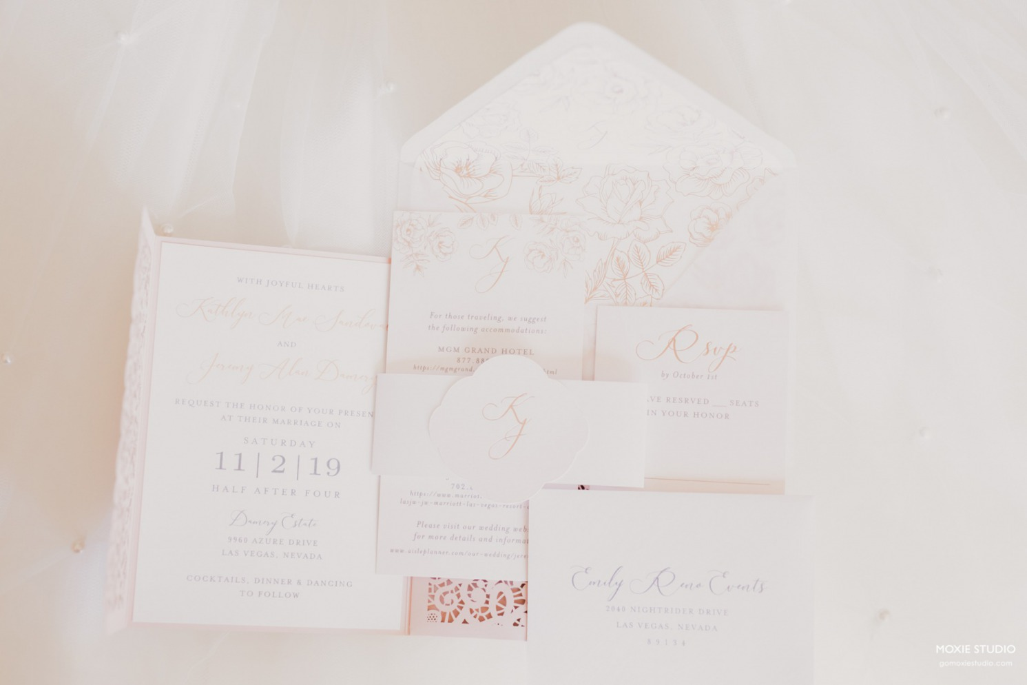 Rose Gold Invitations by ShePaperie