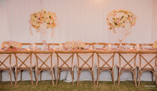 Elegent pink and rose gold wedding