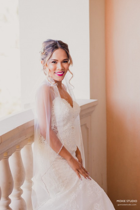 Bride in gown at PRIVATE RESIDENCE