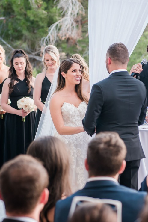Bride and groom at alter canyon gate country club