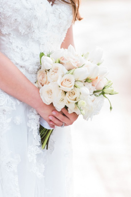 Pink, White and cream bridal bouquet