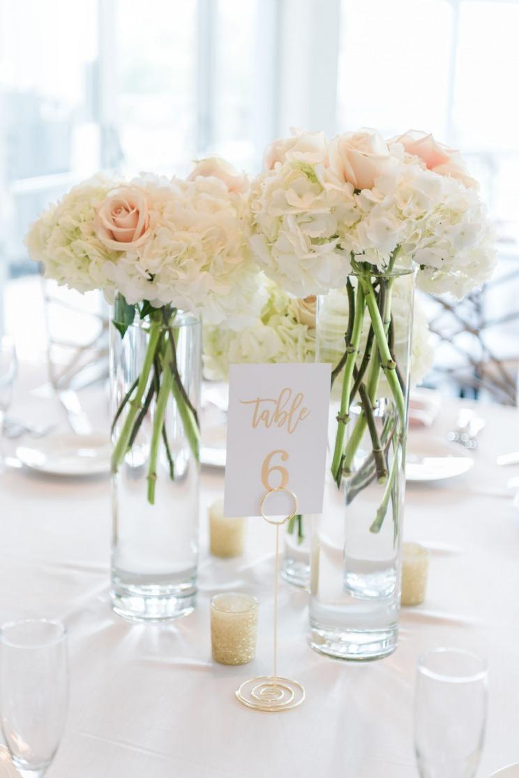 dreamy white flower arragment centerpiece
