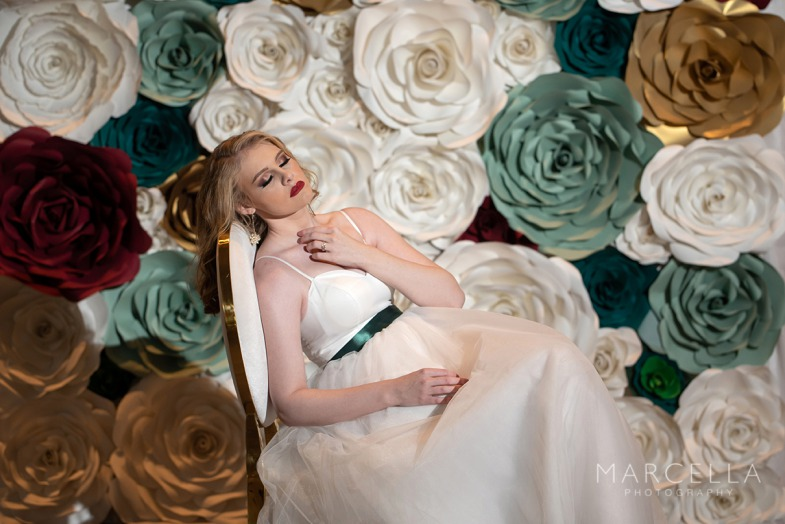 Chic sophisticated bride at Emerald at Queensridge