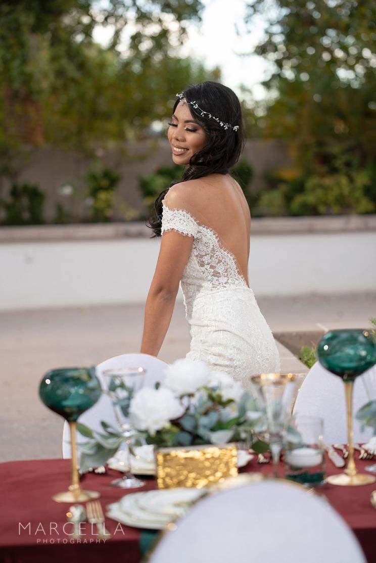 bride at emerald at queensridge