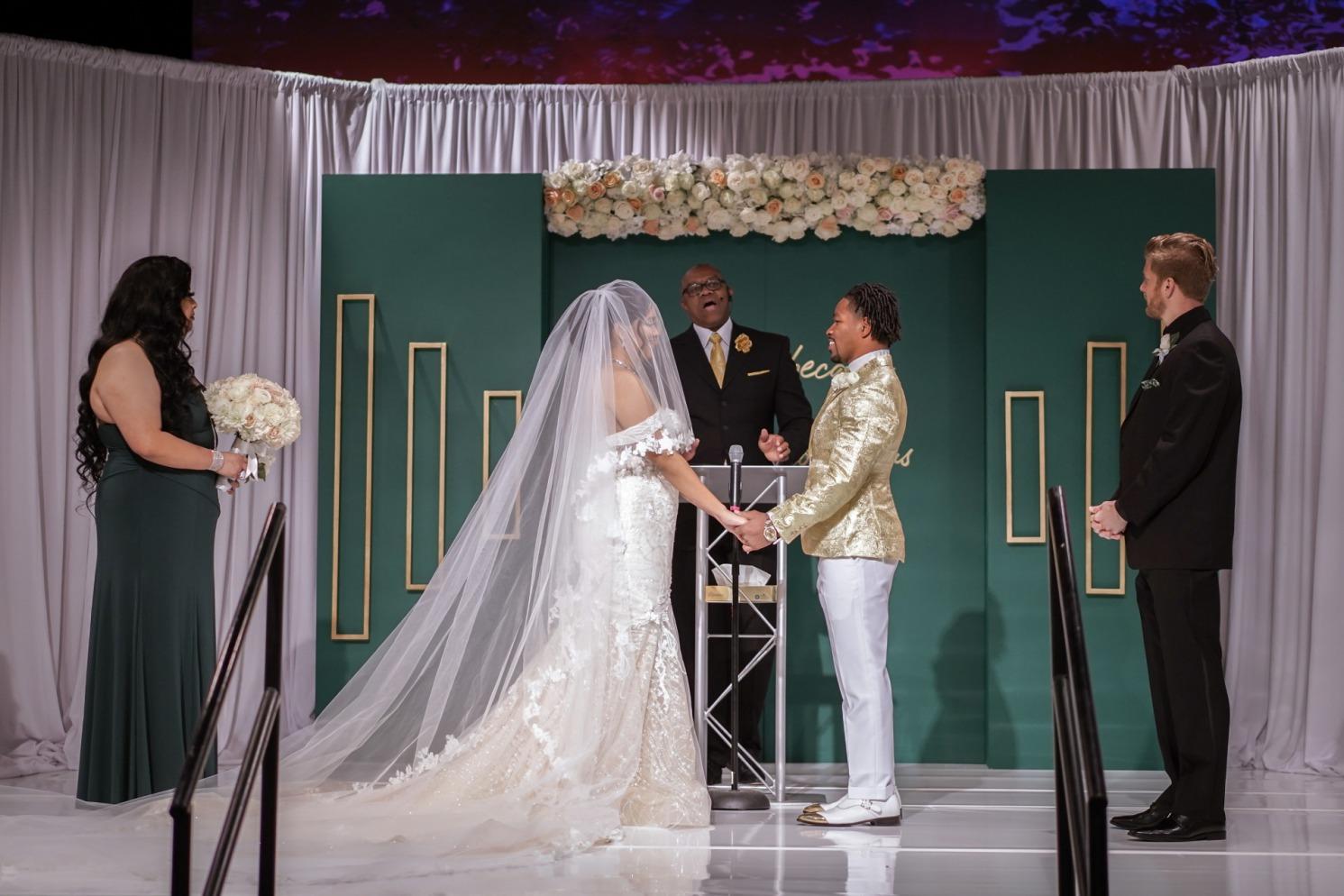 Emerald and Gold Las Vegas Wedding