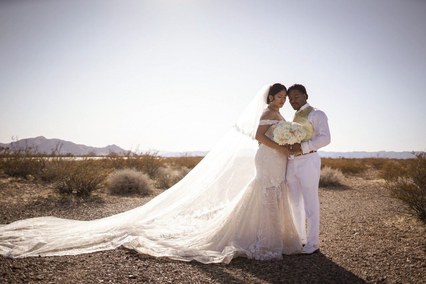 Boxing Champ and beautiful bride Las Vegas Real Wedding