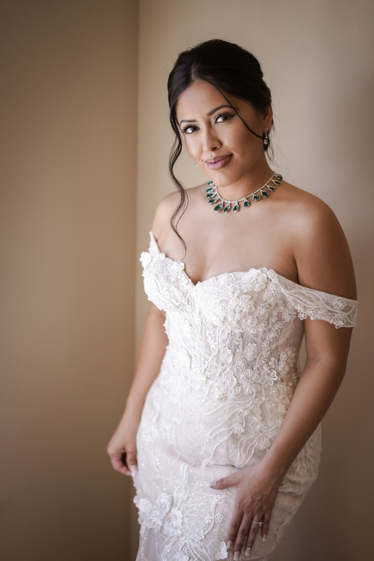 Bride beauty shot before wedding