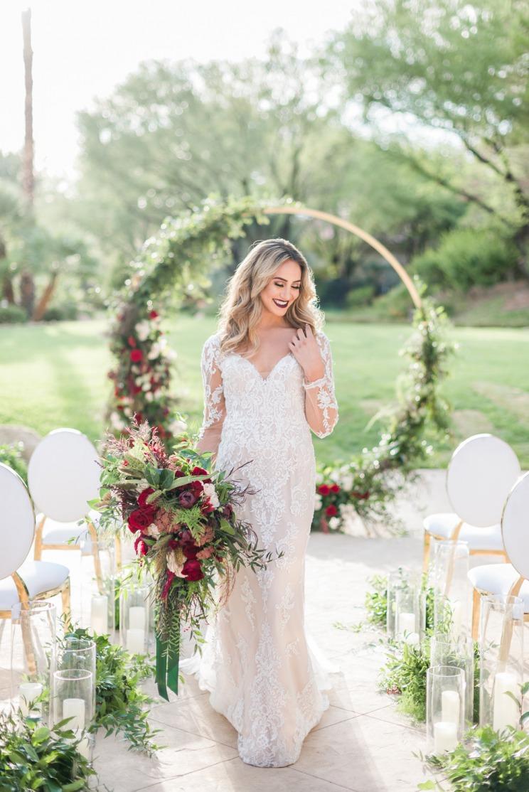Outdoor Ceremony Winter Wedding Inspiration