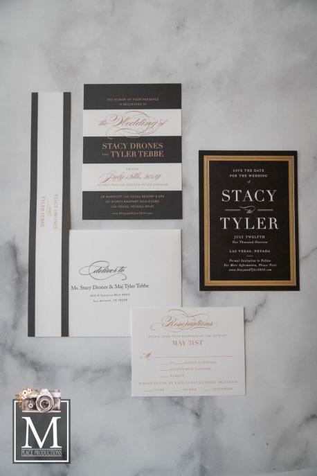 Elegant Black tie Invitation Suite