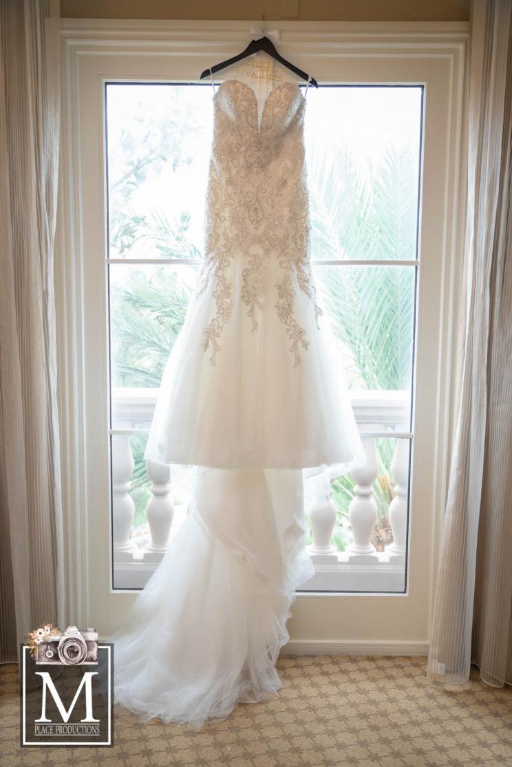 Elegant bridal gown at JW Marriot