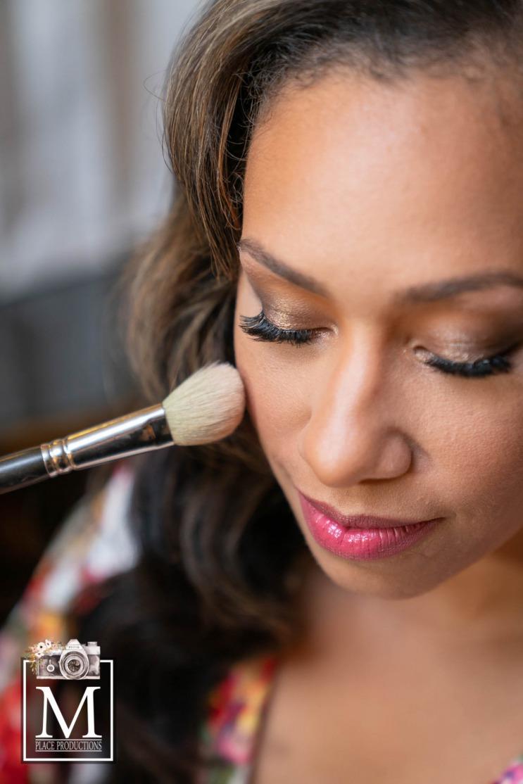 Elegant bridal makeup at JW Marriot