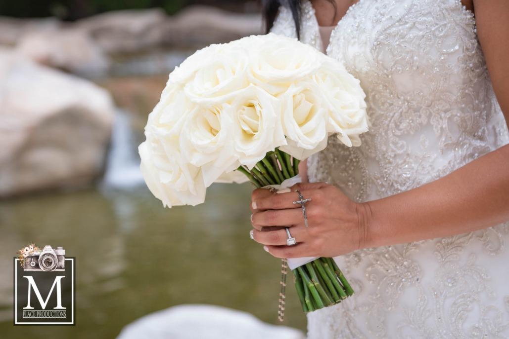 Elegant Las Vegas wedding white bouquet