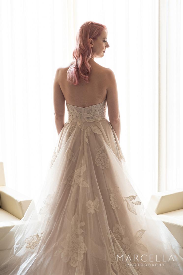 Blush pink wedding dress at Red Rock Casino