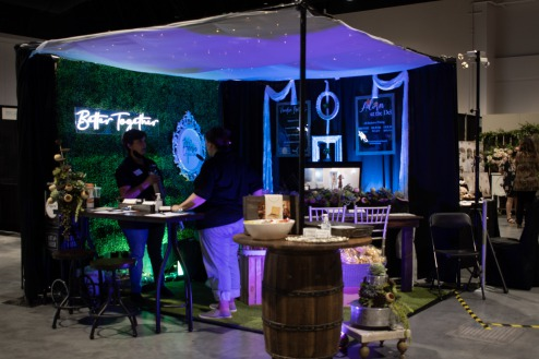Adorn at the Del booth has a unique atmosphere at the Bridal Show