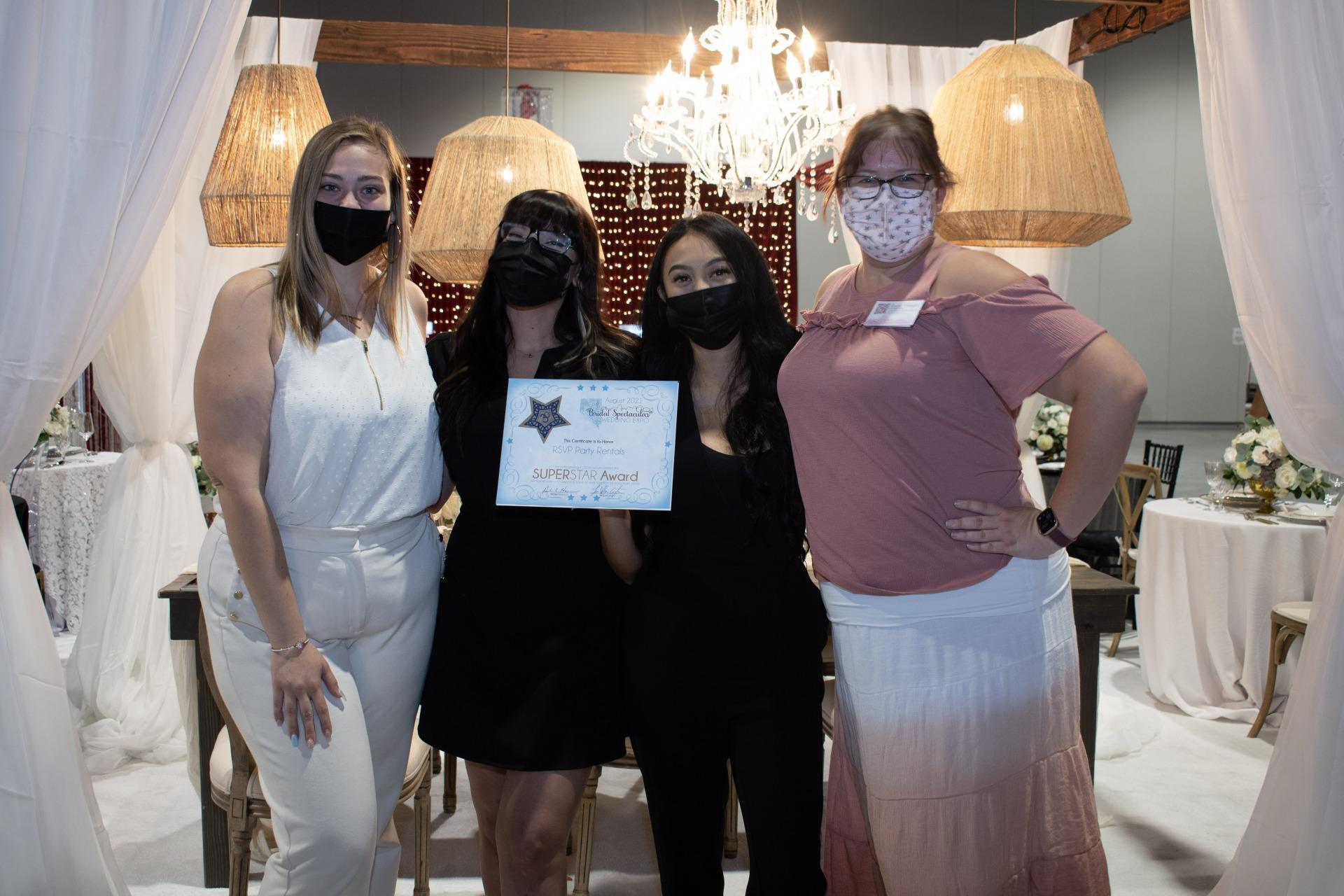 RSVP party rentals Las Vegas Wedding Professionals receives Star award at Las Vegas Bridal Show Bridal Spectacular