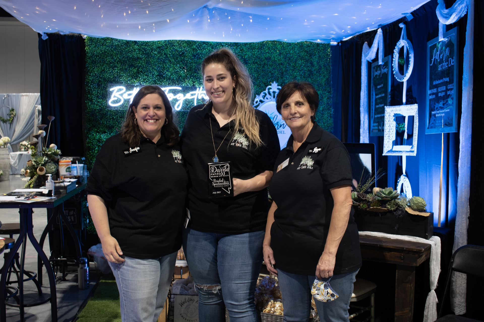 Adorn at the Del did a great job and won a best booth award at the bridal show