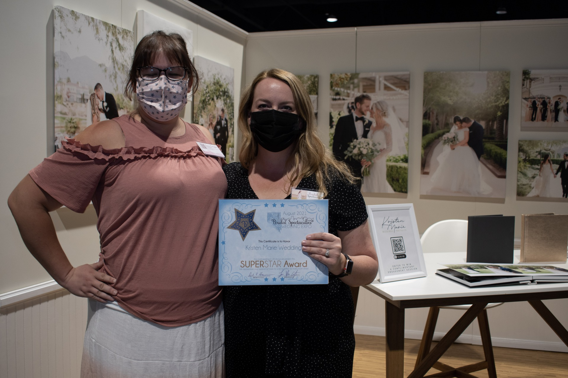 Kristen Marie Weddings and portraits, Las Vegas Wedding Professionals and photographer wins star award at Bridal Spectacular Expo